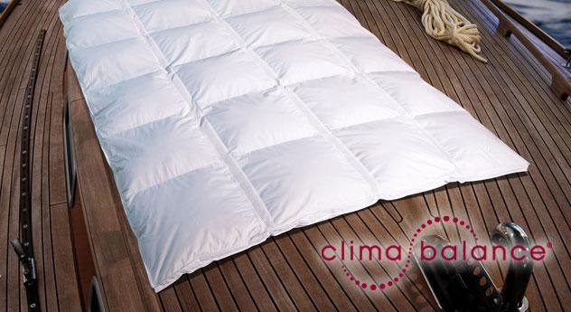 Daunen-Bettdecke clima balance classic warm Baumwolle