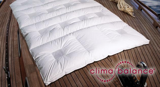 Daunen Bettdecke Clima Balance Premium Warm waschbar