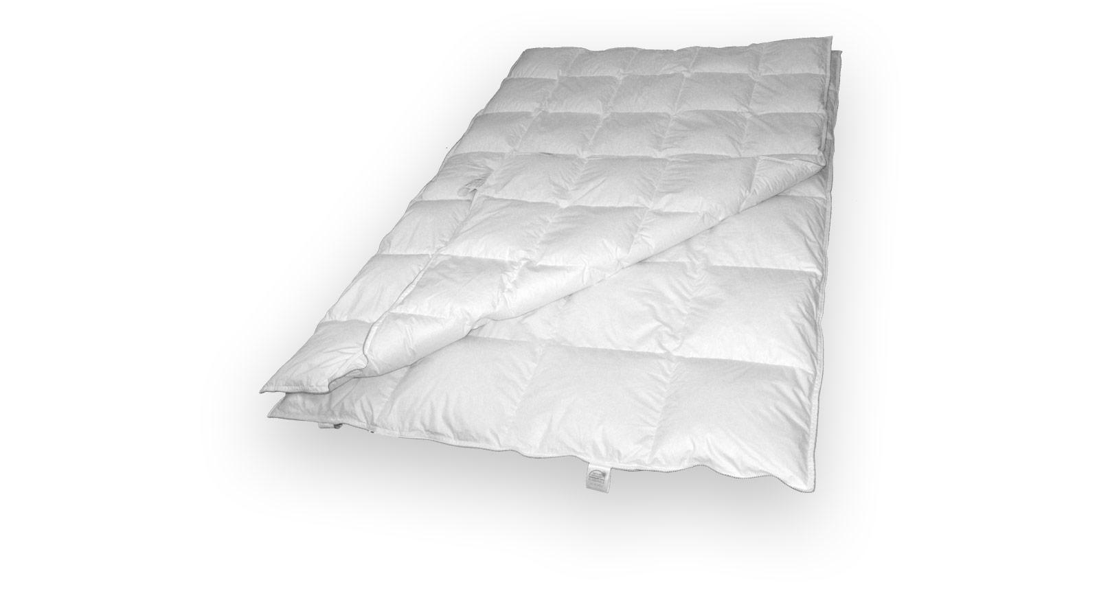 Daunen-Kombi-Bettdecke CleverSleep Baumwolle Kassettendecke