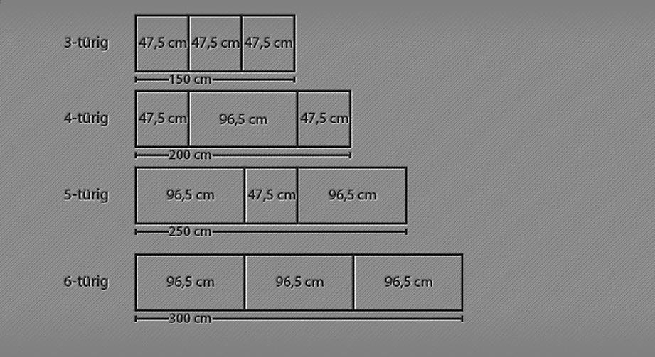 Detaillierte Grafik zu Funktions-Kleiderschrank Tonga