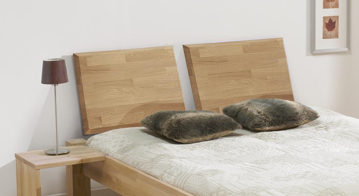 Doppelbett Ariano mit geteiltem Kopfteil