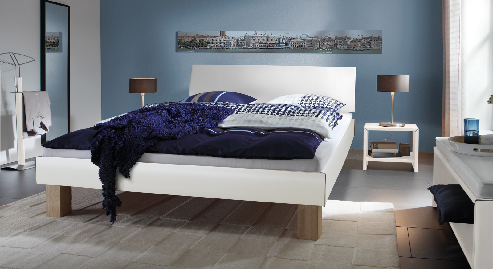 bett in eiche s gerau mit kopfteil benevento. Black Bedroom Furniture Sets. Home Design Ideas