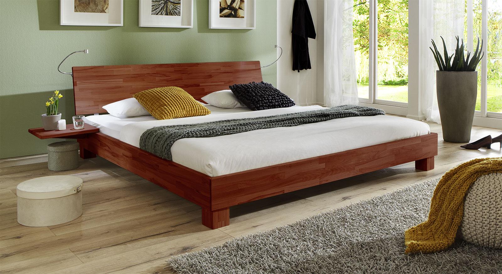 elegantes doppelbett aus massiver buche lesina i. Black Bedroom Furniture Sets. Home Design Ideas