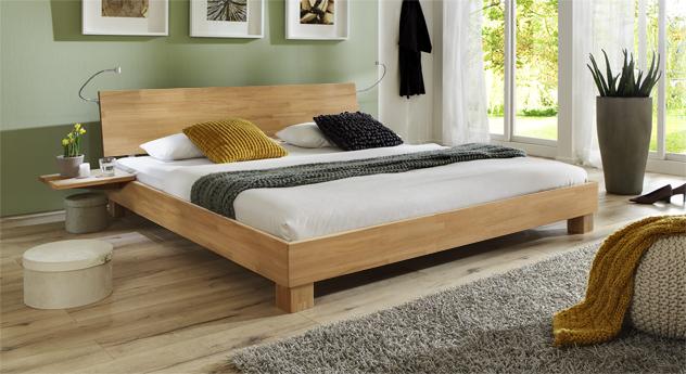 Doppelbett Lesina in Buche natur lackiert