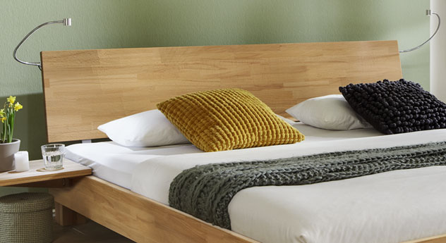 Doppelbett Lesina mit optionaler Kopfteil-Beleuchtung