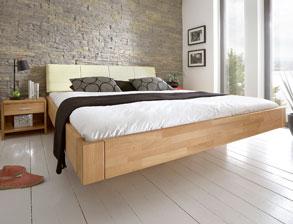 bett schwebend in schwebeoptik ohne f e kaufen. Black Bedroom Furniture Sets. Home Design Ideas