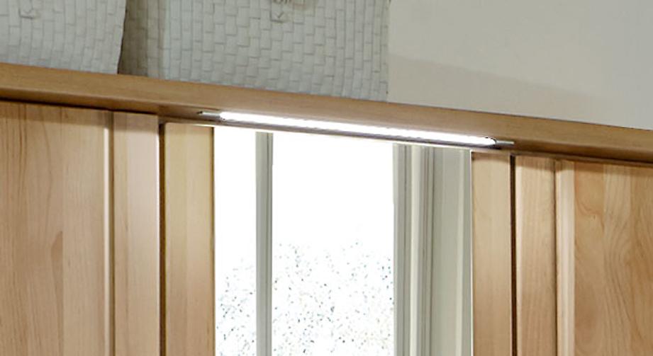Drehtüren-Kleiderschrank Ageo mit optionaler Linienbeleuchtung