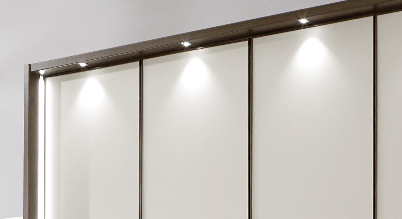Drehtüren-Kleiderschrank Akola mit optionaler LED-Beleuchtung