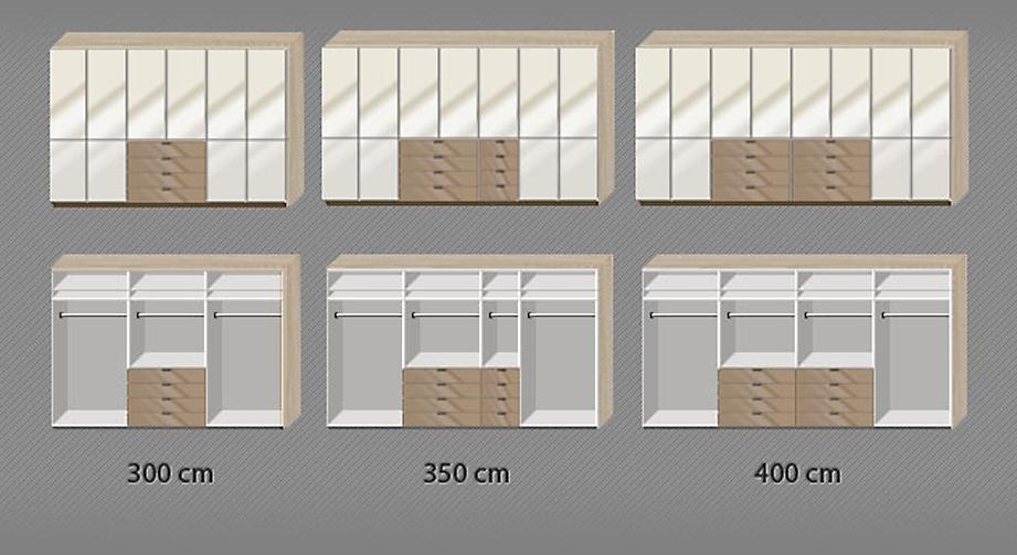 Drehtüren-Kleiderschrank Banga bis zur 8-türigen Inneneinteilung