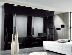 Kleiderschrank weiß schwarz mit spiegel  Edle Kleiderschränke günstig für Ihr Schlafzimmer | BETTEN.de