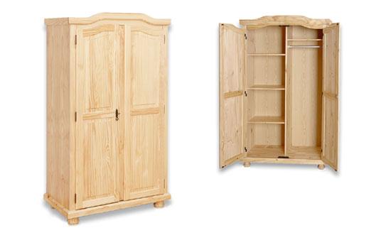 2 t riger dreht ren kleiderschrank villach aus kiefer. Black Bedroom Furniture Sets. Home Design Ideas