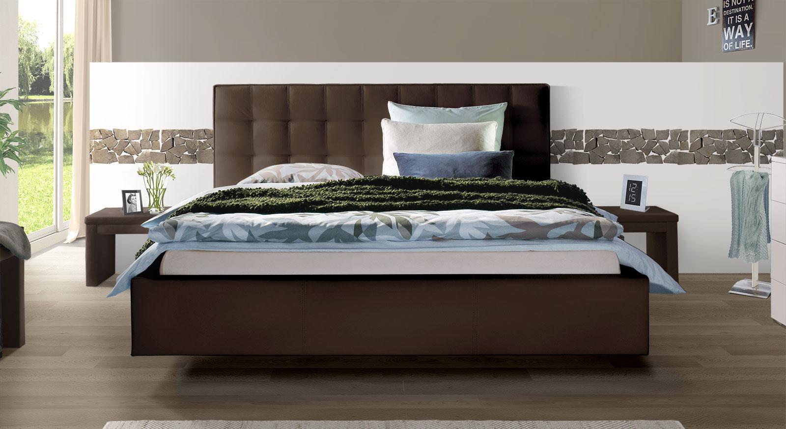stunning bett mit hohem kopfteil contemporary. Black Bedroom Furniture Sets. Home Design Ideas