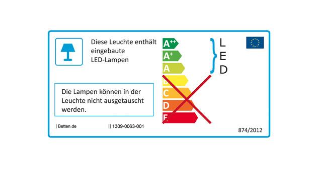 Energieverbrauchskennzeichnung zum Autobett Speedfighter