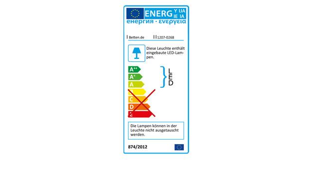Energieverbrauchskennzeichnung für das Bett Akola