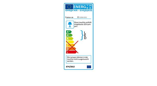 Energieverbrauchskennzeichnung vom Bett Moa