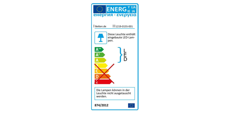 Energieverbrauchskennzeichnung der LED-Leseleuchte Swansea