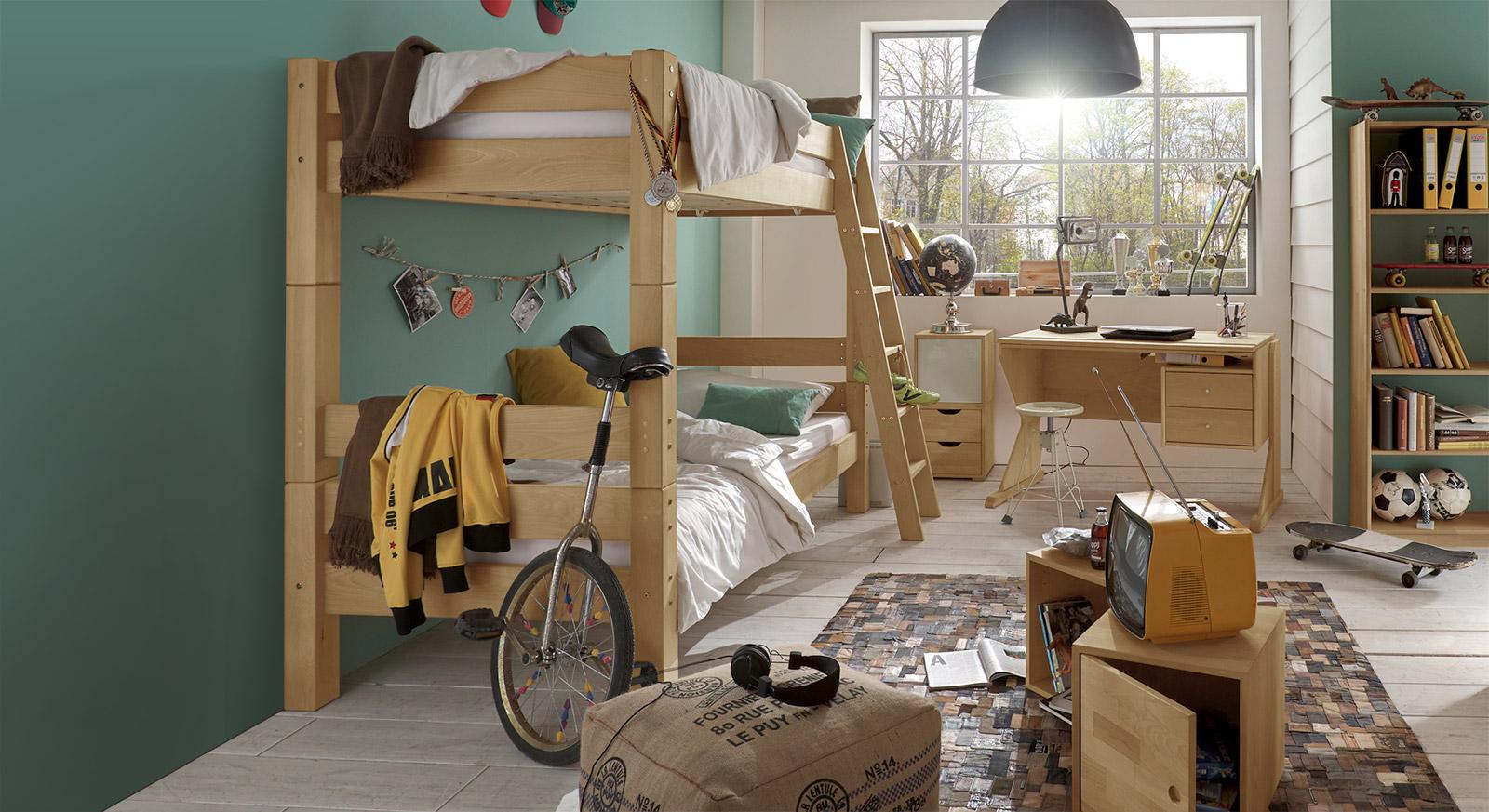 Etagenbett Landhausstil : Etagenbett cm aus biologisch geölter buche kids fantasy
