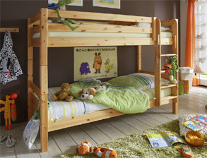 Etagenbett Kids Paradise in Kiefer naturfarben