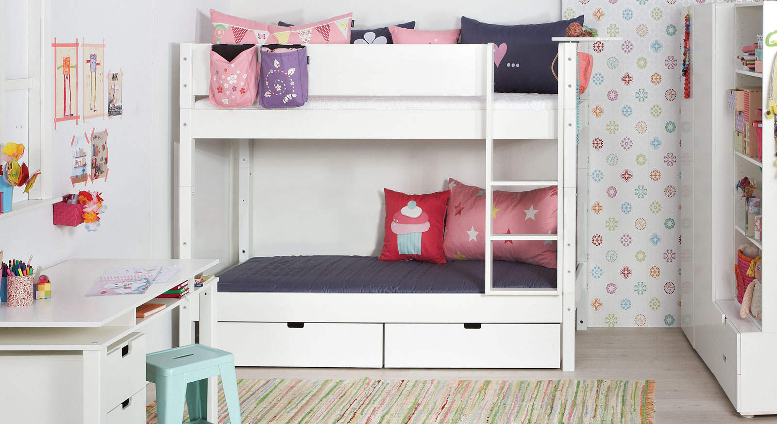 t v gepr ftes kinder etagenbett aus buche und mdf kids town. Black Bedroom Furniture Sets. Home Design Ideas