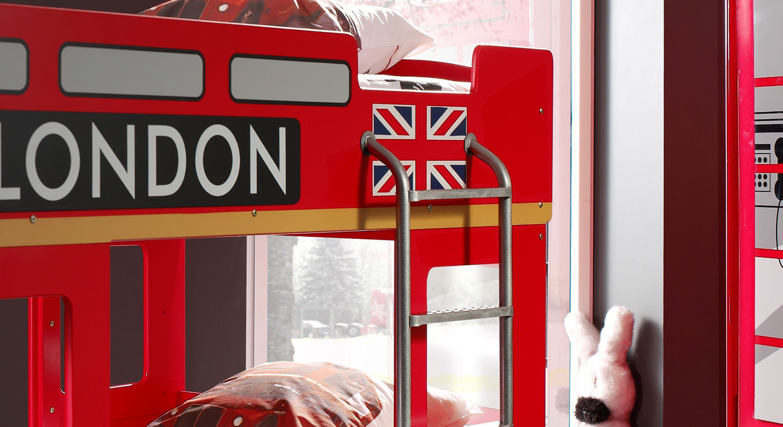 Etagenbett London Bus : Auto etagenbett in rot als london doppeldecker paddington