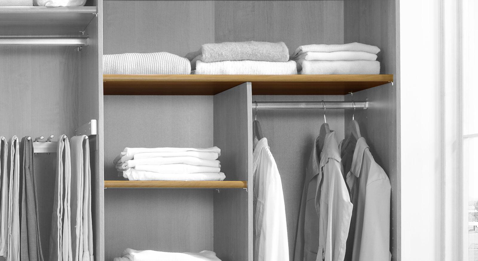 Einlegeboden für Falttüren Kleiderschrank