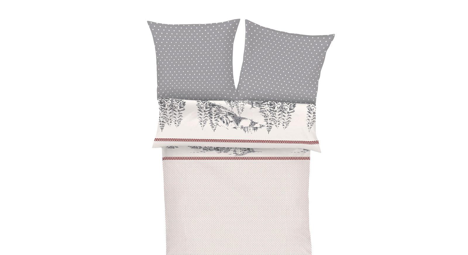 Feinflanell-Bettwäsche Winterlove inklusive einem praktischen Reißverschluss