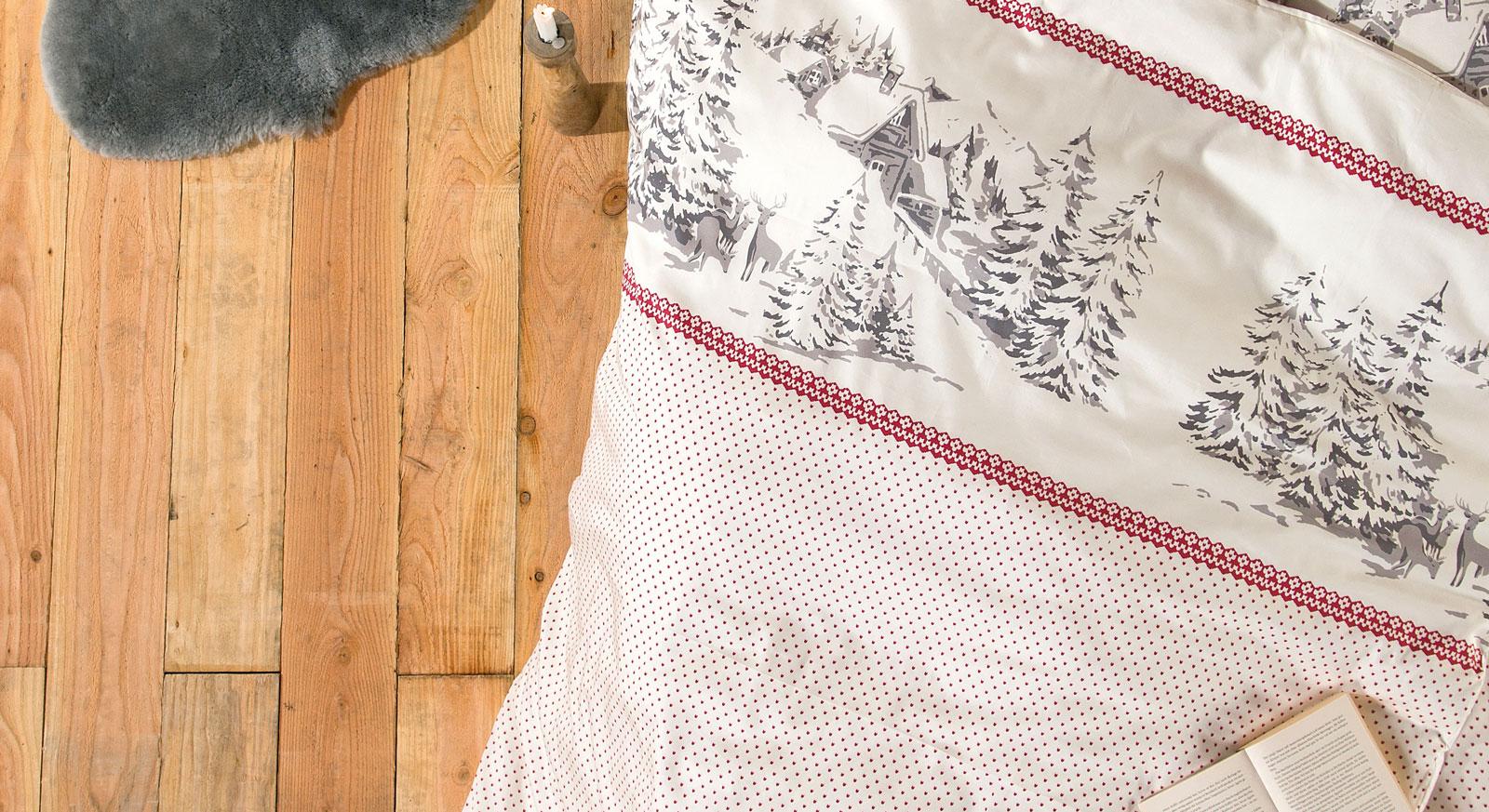 Feinflanell-Bettwäsche Winterlove mit winterlichem Motiv
