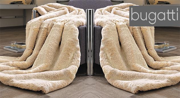 Hochwertig weiche Felldecke Wüstenfuchs von Bugatti