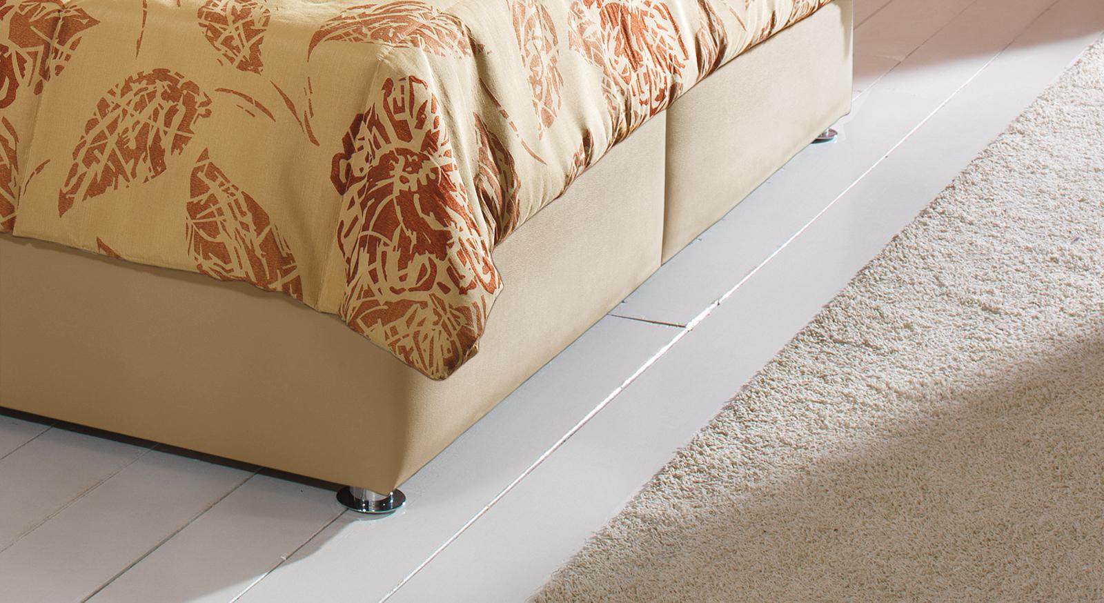 Bett Toskana verchromte Metallfüße Bettbeine fester Stand