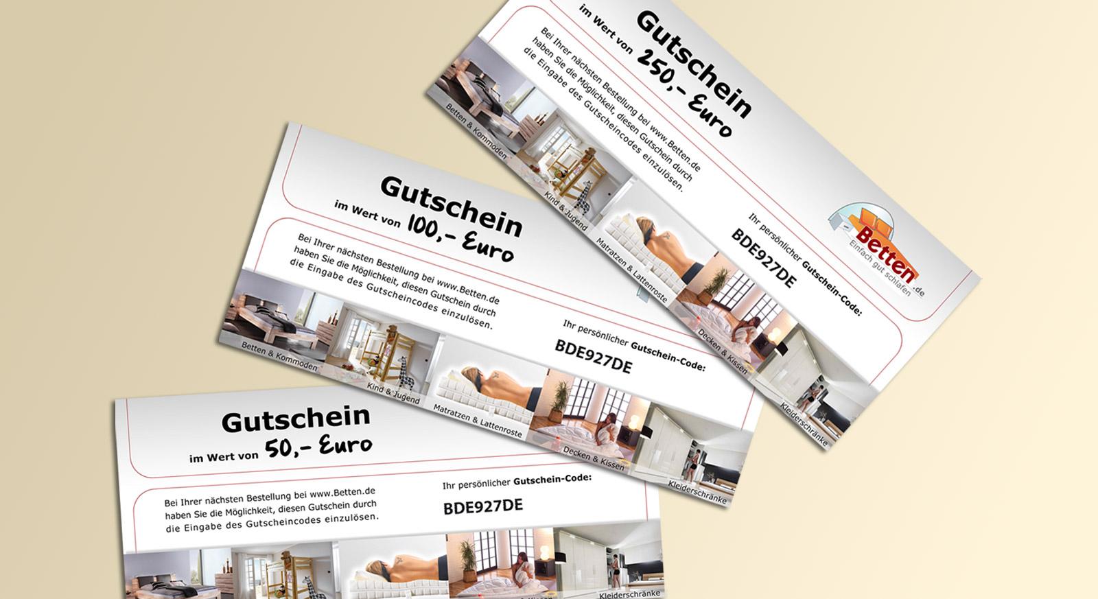 Gutschein als Geschenk 50€ 100€ 200€