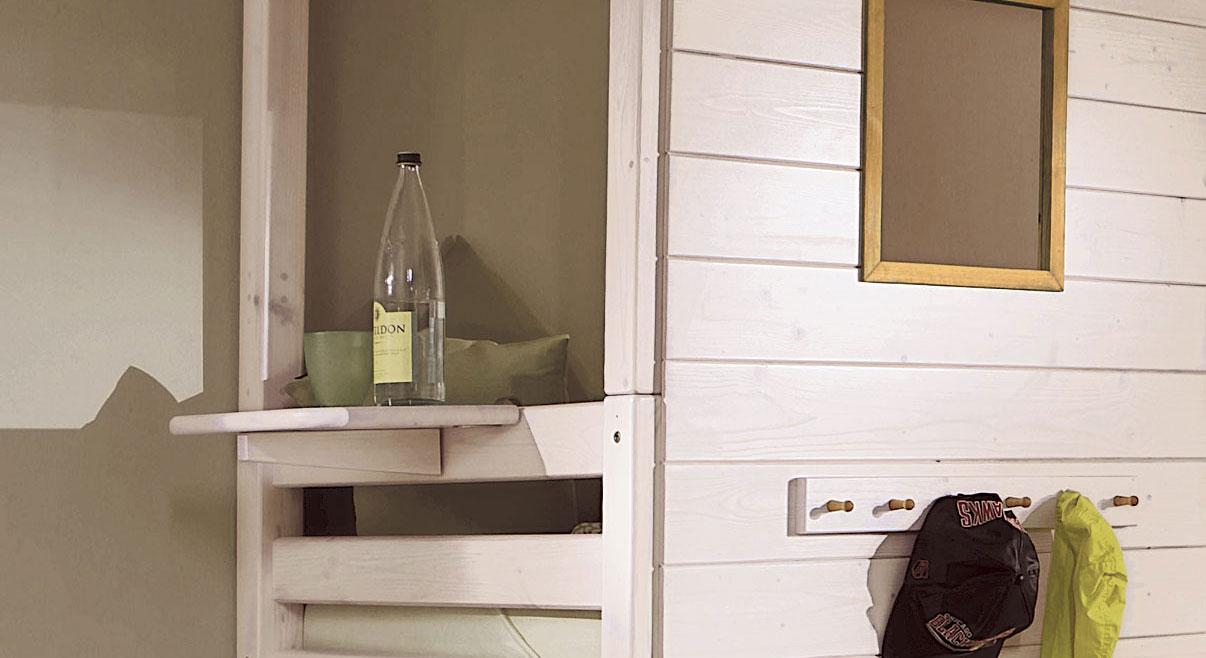 Haenge-Nachttisch Kids Paradise Kiefer weiß