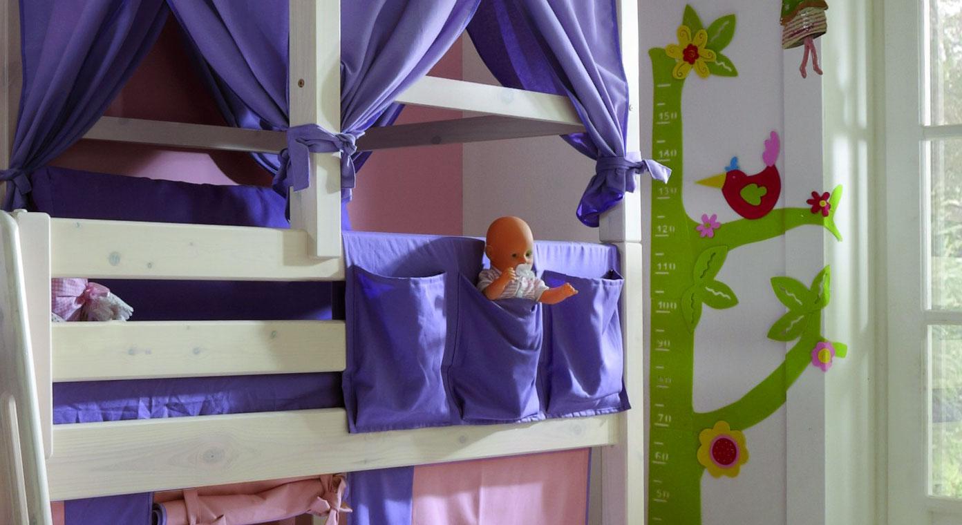 Hängetasche Kids Paradise in lilanem Stoff