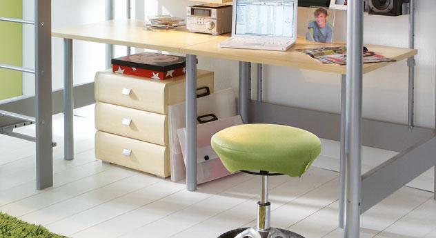 Hoch Etagenbett Jan mit Schreibtisch