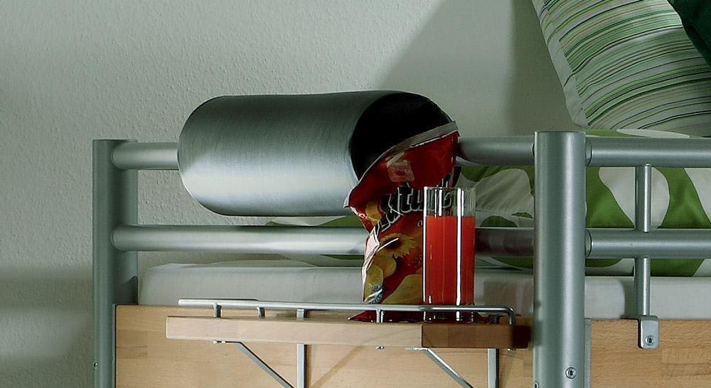 Hoch- und Etagenbett Steven mit komfortabler Nackenrolle