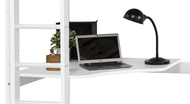 Stabiles Hochbett Kids Heaven mit Loungeecke und Schreibtischplatte