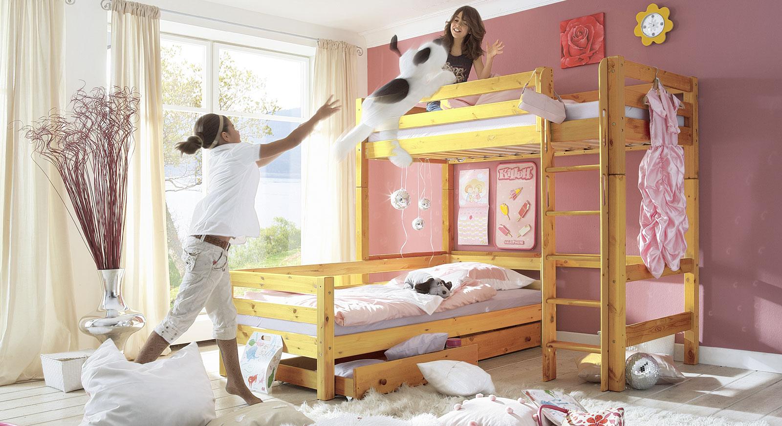 Hochbett mit Leiter für Kinder - Hochbett Kids Paradise