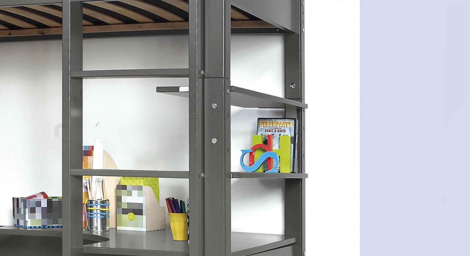 Stabiles, montiertes Hochbett-Regal Kids Town