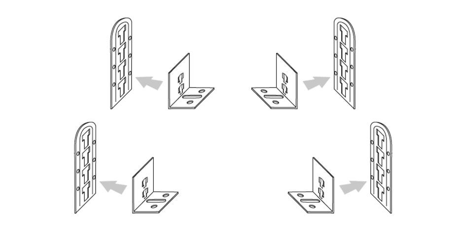 Höhenverstellbare Beschläge zur Verringerung der Einlegetiefe