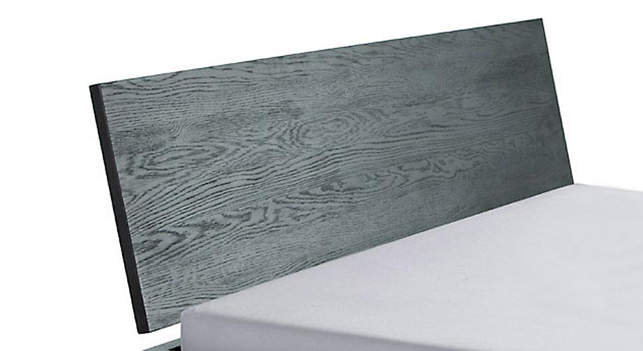Holzbett Costa Rica mit Detailaufnahme des Kopfteils in Ecihe graphit