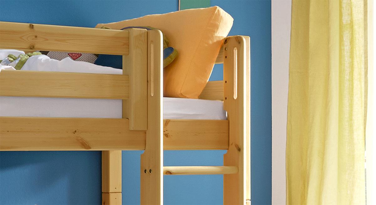 Hütten-Hochbett Kids Paradise für Jungen mit robuster Leiter
