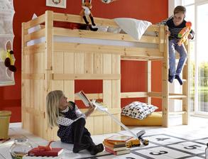 Tolle kinderbetten aus massivholz f r ihr kinderzimmer for Niedriges hochbett