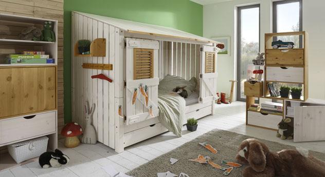 Hüttenbett Strandhaus inklusive Türen