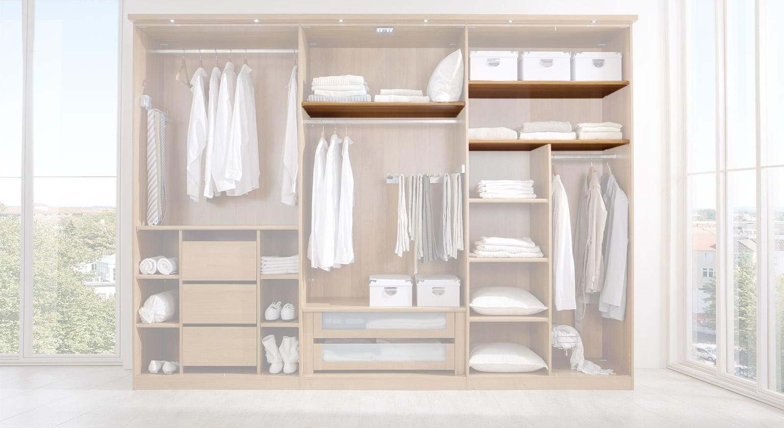 Breiter Einlegeboden der Innenausstattung für Kleiderschränke