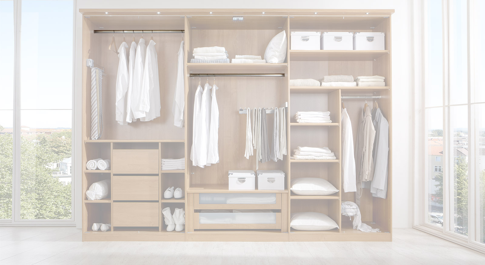 Breite Kleiderstange der Innenausstattung für Kleiderschränke