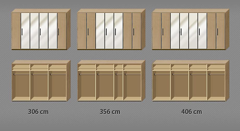 Grafik zur Inneneinteilung des Kleiderschranks