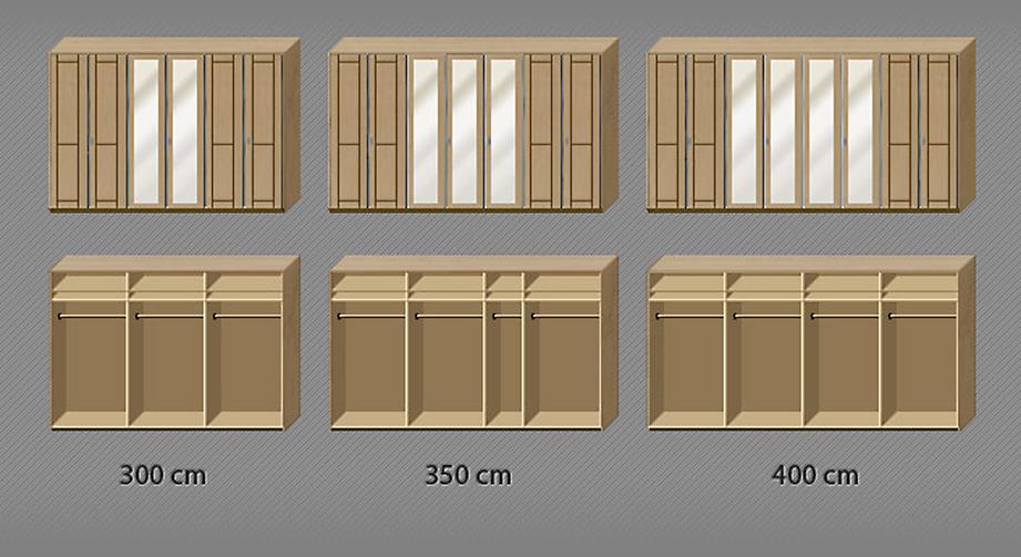 Grafik zur Inneneinteilung des Kleiderschranks Trikomo