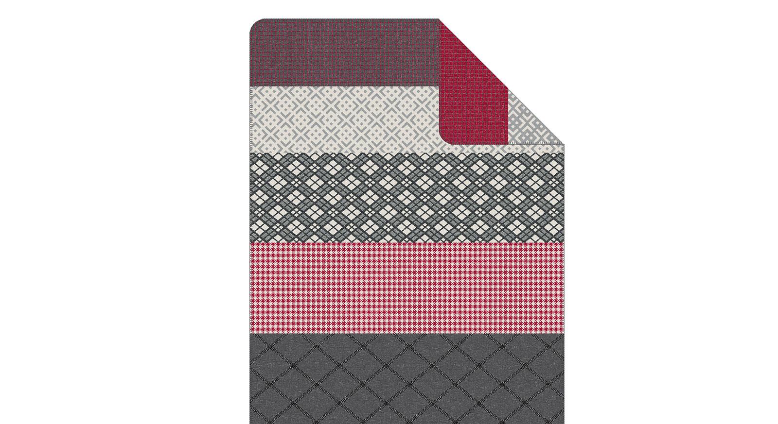 Jacquard-Decke s.Oliver Mustermix mit modernem Zierstich