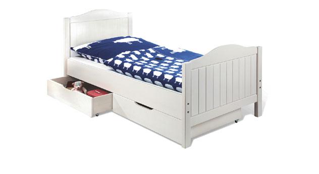 Jugendbett Kristin mit passenden Bettschubkästen