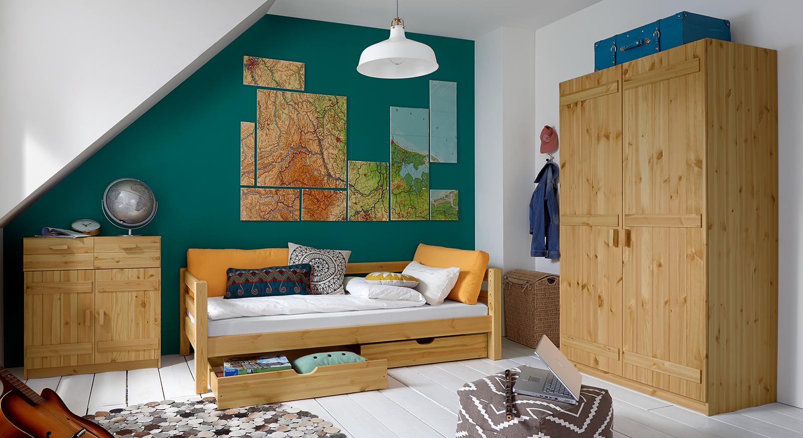 Jugendzimmer komplett aus kiefer gefertigt kids paradise - Bilder jugendzimmer ...