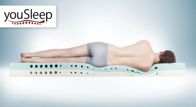 Kaltschaummatratze youSleep 200 mit optimalen Liegegefühl